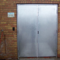 galvanized double doors : galvanized door - pezcame.com